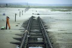 Rails on the beach orthsea