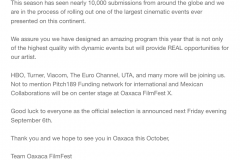 email from the festival a few weeks before the festival